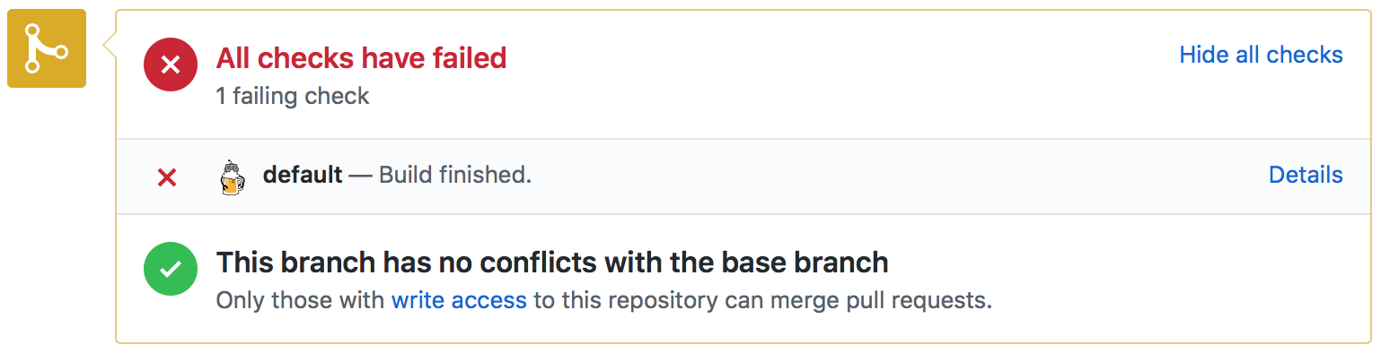 Failed Pull Request