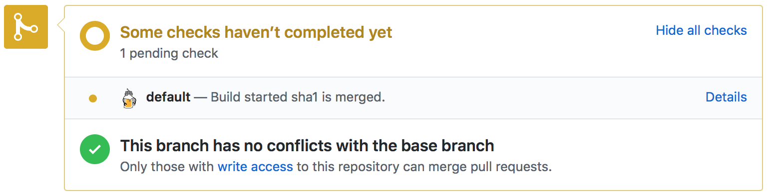 Triggered Pull Request